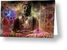 Cosmic Buddha Greeting Card
