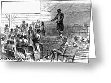 Cotton Plantation, 1867 Greeting Card