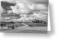 Country Living Bw Greeting Card