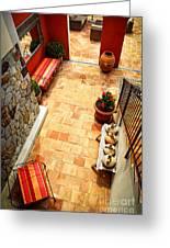 Courtyard Of A Villa Greeting Card by Elena Elisseeva
