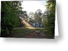 Crepuscular Rays In Alabama Greeting Card