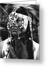 Crow Native American Traditional Dress Rodeo Gallup New Mexico 1969 Greeting Card