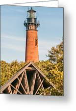 Currituck Beach Lighthouse On The Outer Banks Of North Carolina Greeting Card