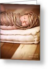 Cute Baby Sleeping Greeting Card