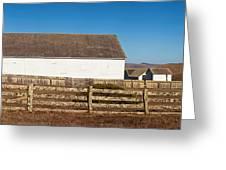 Dairy Buildings At Historic Pierce Greeting Card