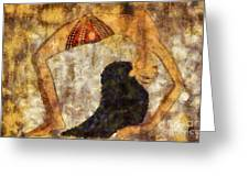 dancer of ancient Egypt Greeting Card