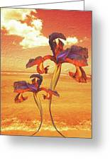 Dancing In The Sunset Greeting Card