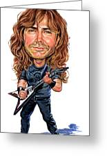 Dave Mustaine Greeting Card by Art