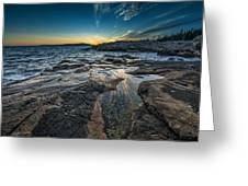 Day's End At Scoodic Point Greeting Card