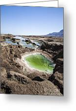 Dead Sea Sinkholes  Greeting Card by Eyal Bartov
