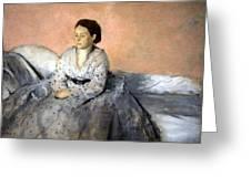 Degas' Madame Rene De Gas Greeting Card