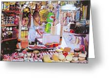 Deli On The Via Condotti Greeting Card