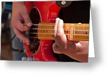 Bass Playing - Denver Greeting Card