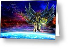 Descending Seraphim Greeting Card by Michael Schneider