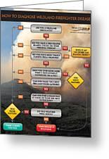 Diagnosing Wildland Firefighter Disease Greeting Card