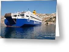 Diagoras Ferry Symi Greeting Card