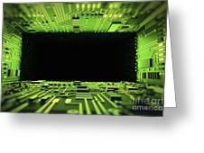 Digital Tunnel Greeting Card