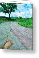 Dirty Road Painting Greeting Card