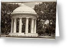 District Of Columbia War Memorial Greeting Card