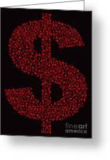 Dollar People Icon Greeting Card