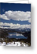 Donner Lake Donner Pass With Snow Greeting Card