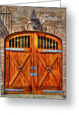Doors Of Charleston Greeting Card
