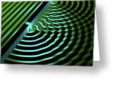 Double-slit Experiment, Artwork Greeting Card