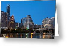 Downtown Austin Skyline Greeting Card