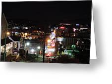 Downtown Morgantown From Above Greeting Card