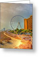 Downtown Myrtle Beach Greeting Card