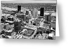Downtown Skyline Of Toledo Ohio Greeting Card