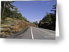 Driving Through A Rock Cut Greeting Card