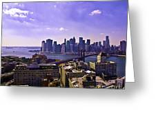 Dumbo View Of Lower Manhattan Greeting Card