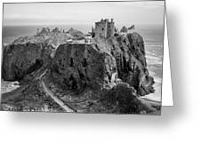 Dunnottar Castle Monochrome Greeting Card