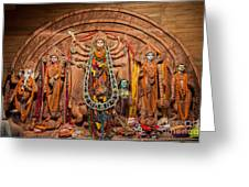 Durga Puja Festival Greeting Card
