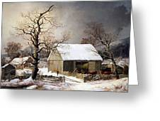 Durrie's Winter In The Country Greeting Card