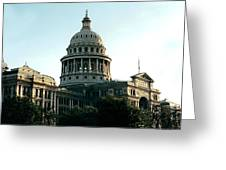Early Morning At The Texas State Capital Greeting Card
