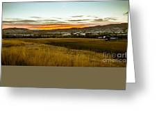East End Of Emmett Valley Greeting Card