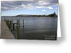 Eau Gallie Causeway Over The Indian River Lagoon At Melbourne Fl Greeting Card