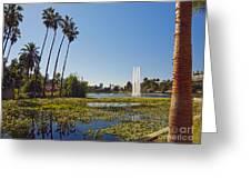 Echo Park L A  Greeting Card