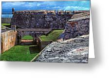 El Morro Fortress Old San Juan Greeting Card by Thomas R Fletcher