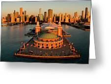 Elevated View Of The Navy Pier Greeting Card