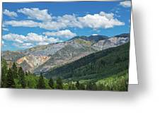 Elevated View Of Trees On Landscape Greeting Card