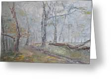 Epping Mist Greeting Card by David  Hawkins