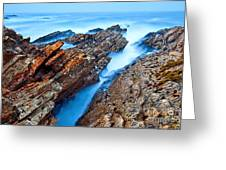 Eternal Tides - The Strange Jagged Rocks And Cliffs Of Montana De Oro State Park In California Greeting Card