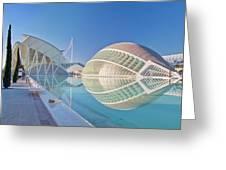 Europe, Spain, Valencia, City Of Arts Greeting Card