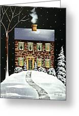 Evergreen Cottage Greeting Card
