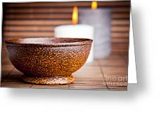 Exotic Bowl And Candles Greeting Card