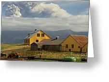 Eyjafjallaj�kull Ash Cloud, Iceland Greeting Card