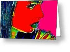Facets Of Beauty Greeting Card